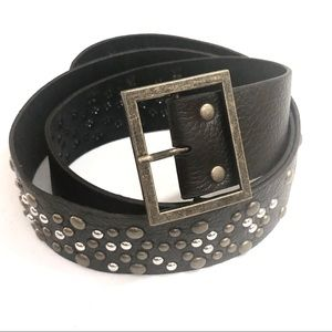 Accessories - Brown Studded Belt  Size 16